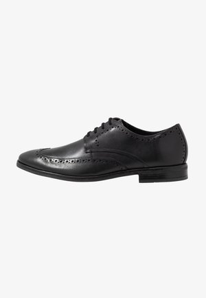 STANFORD LIMIT - Smart lace-ups - black