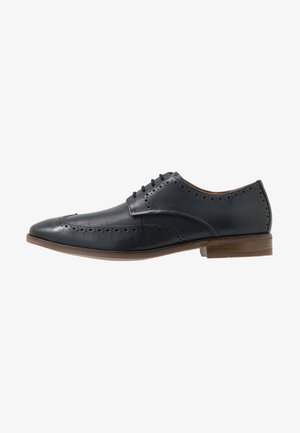 STANFORD LIMIT - Smart lace-ups - navy