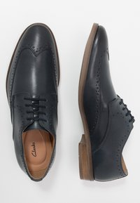 Clarks - STANFORD LIMIT - Smart lace-ups - navy - 1