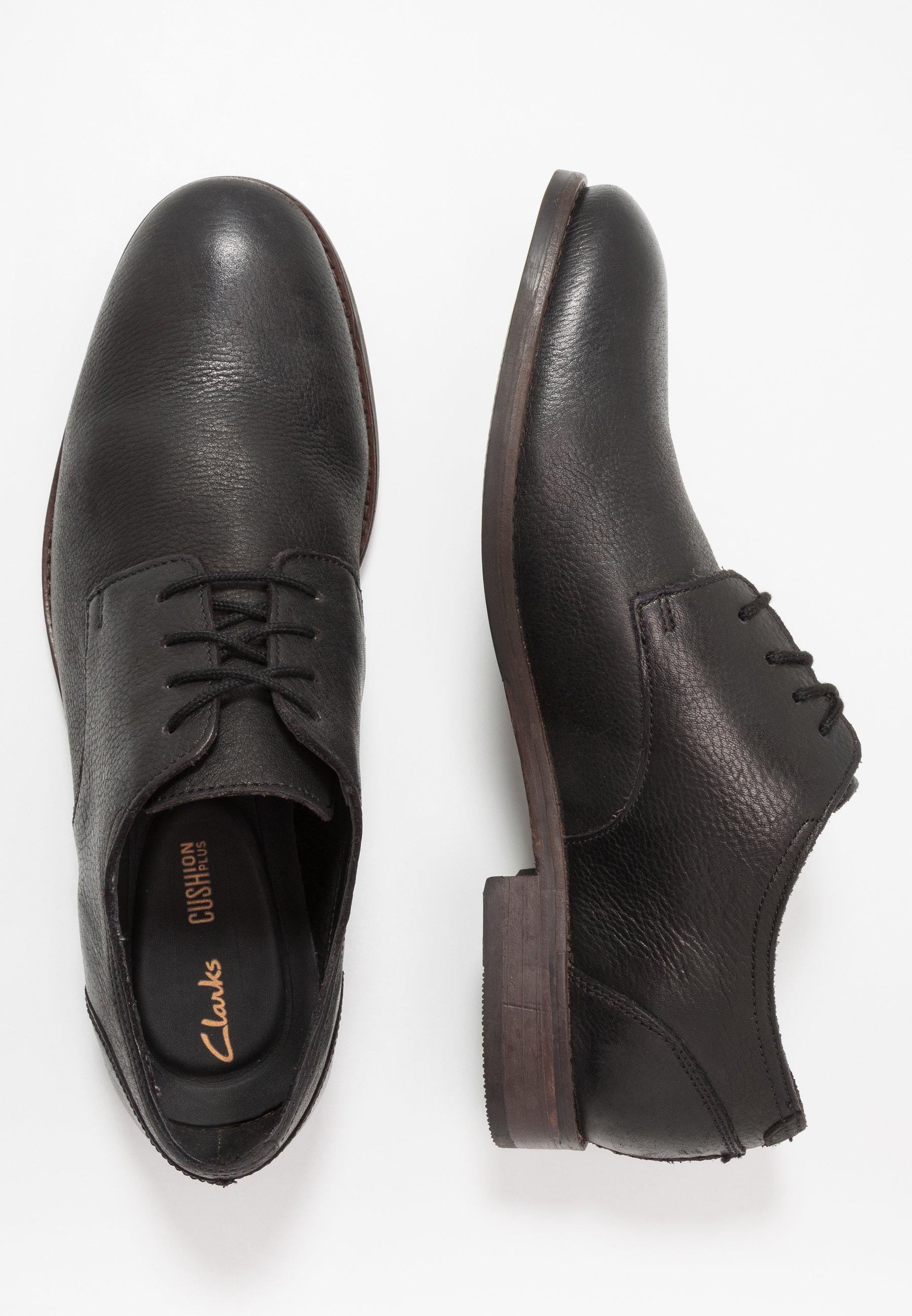 Clarks Flow Plain - Stringate Eleganti Black JaPIw