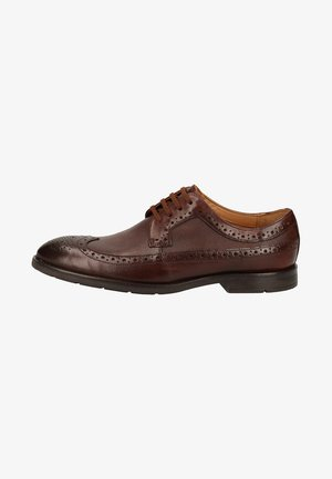 Smart lace-ups - dark tan