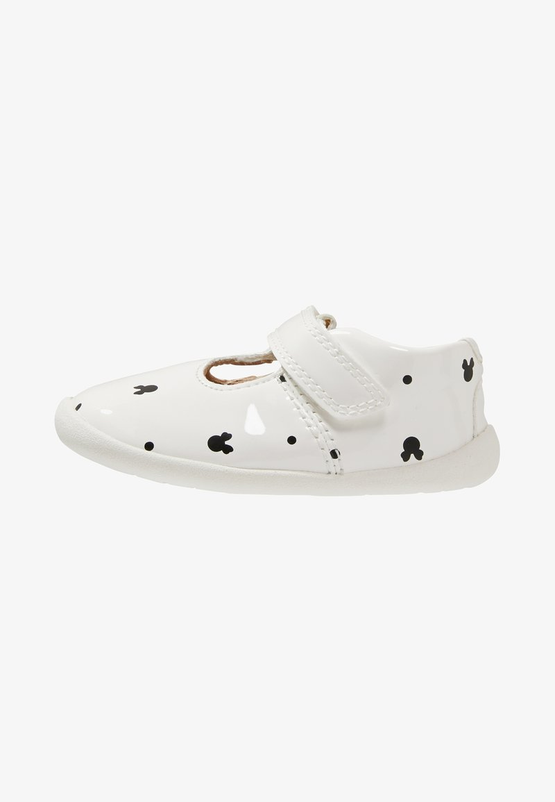 Disney Clarks - MINNIE MOUSE ROAMER POLKA - Touch-strap shoes - white