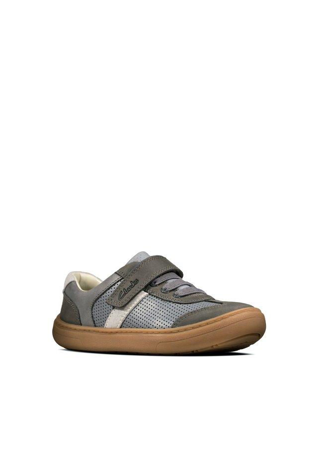FLASH STEP - Chaussures à scratch - graues leder / kombi