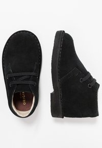 Clarks - DESERT BOOT - Casual lace-ups - black - 0