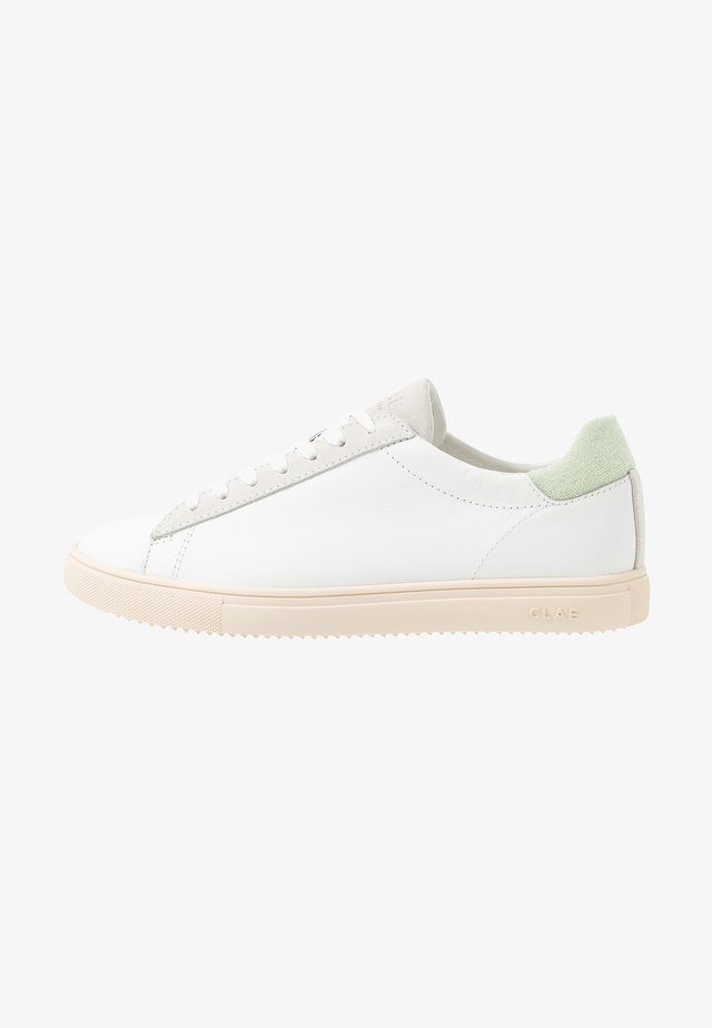 BRADLEY - Sneakers - white/mint terry