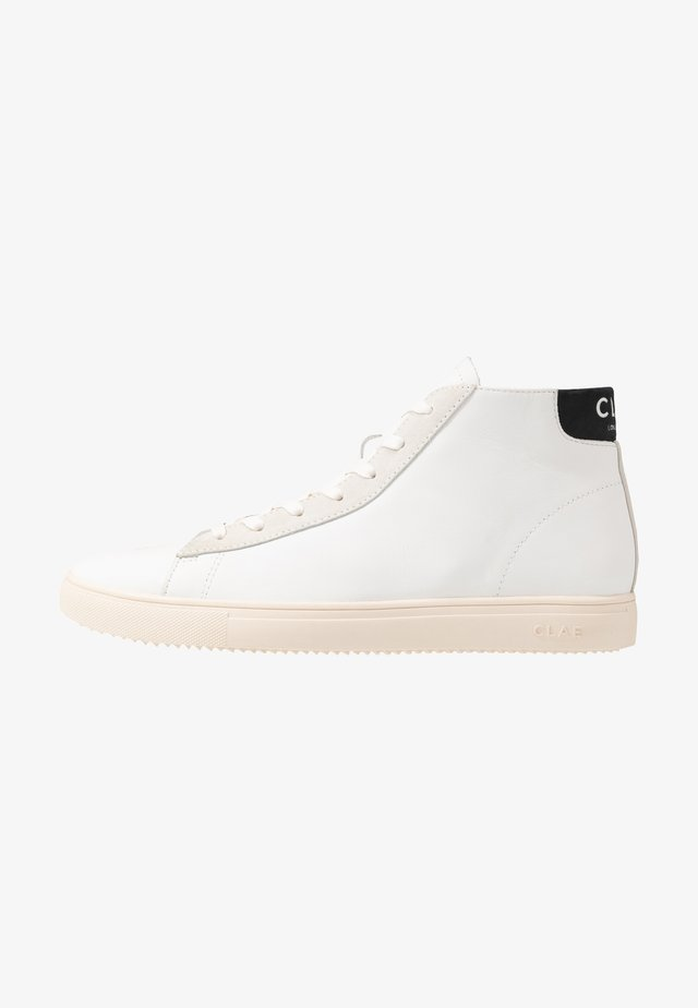 BRADLEY MID - Höga sneakers - white/black