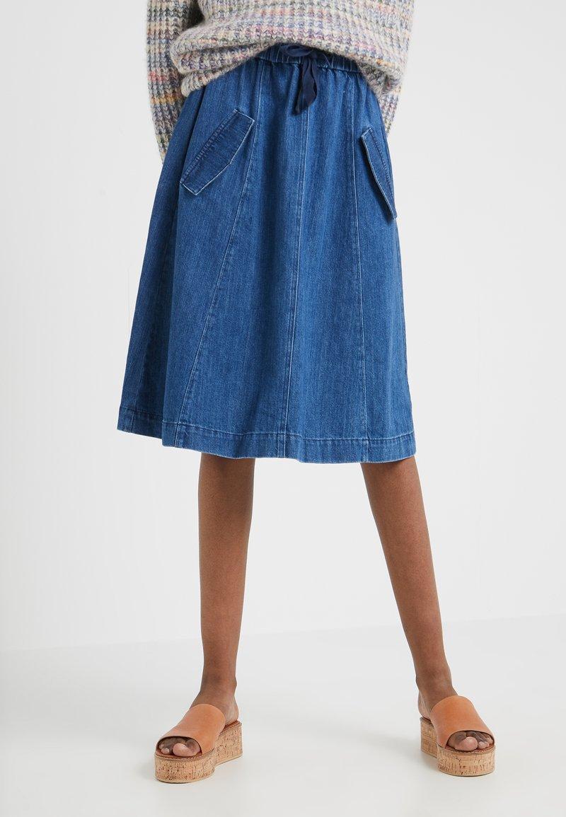 CLOSED - VANITA - A-snit nederdel/ A-formede nederdele - mid blue