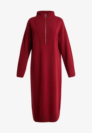DRESS - Pletené šaty - ruby