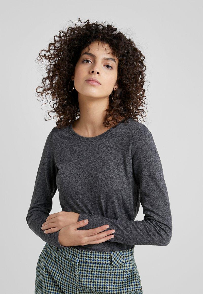 CLOSED - Long sleeved top - dark grey melange