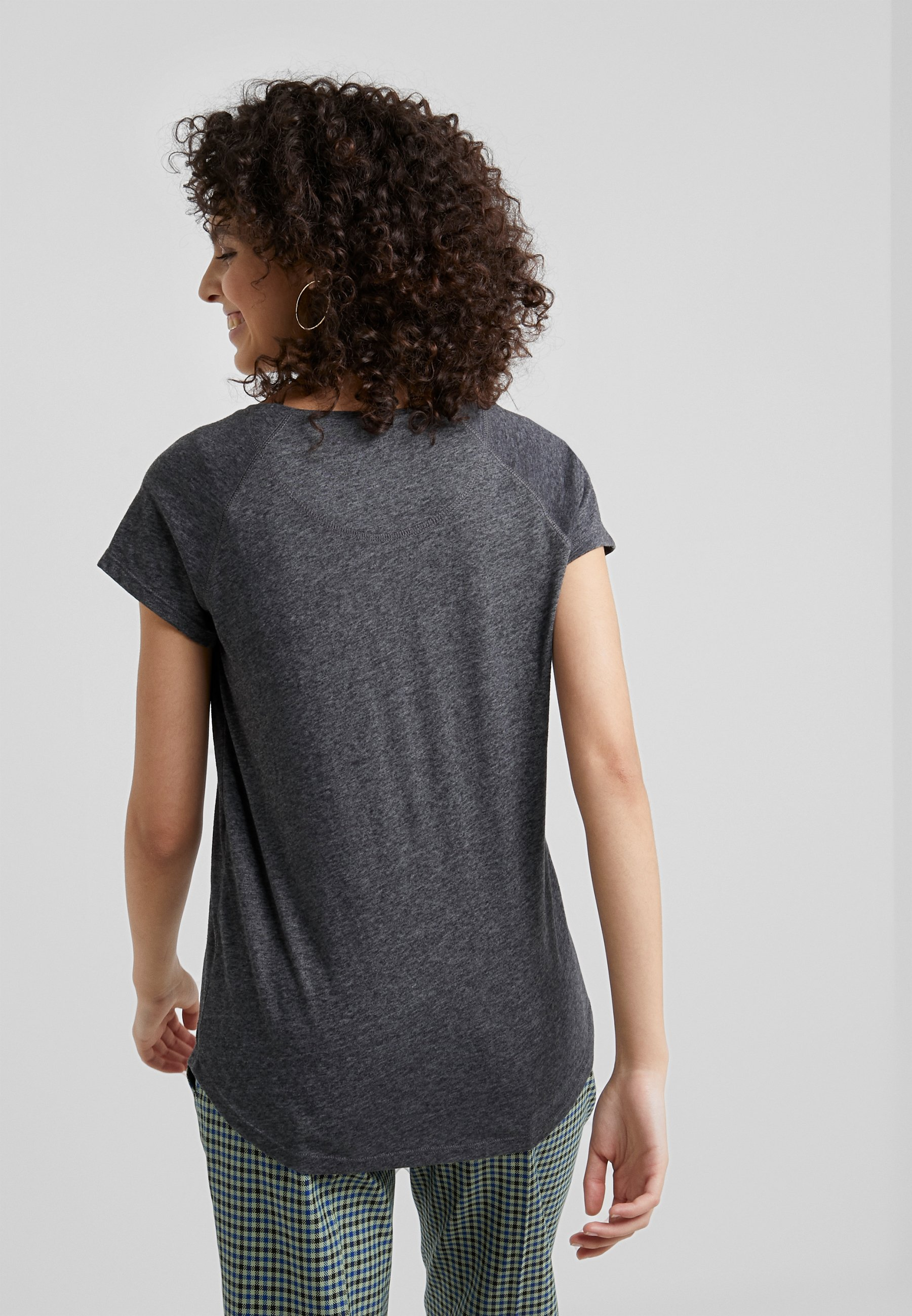 Closed BasiqueDark T shirt Melange Grey j4LAqc35RS