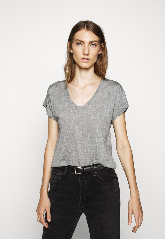 WOMEN´S - T-shirt basic - grey heather melange