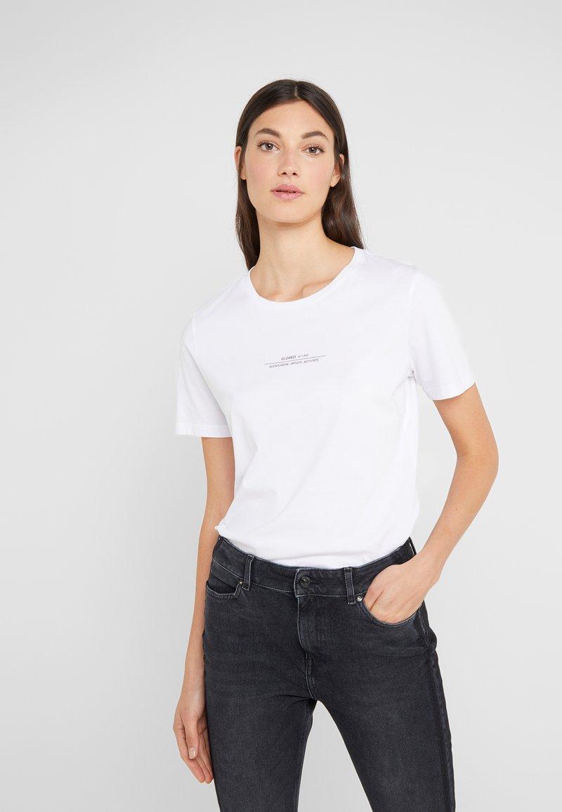 CLOSED - LOGO  - T-Shirt print - white