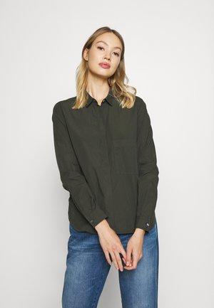 HAILEY - Button-down blouse - shadow green