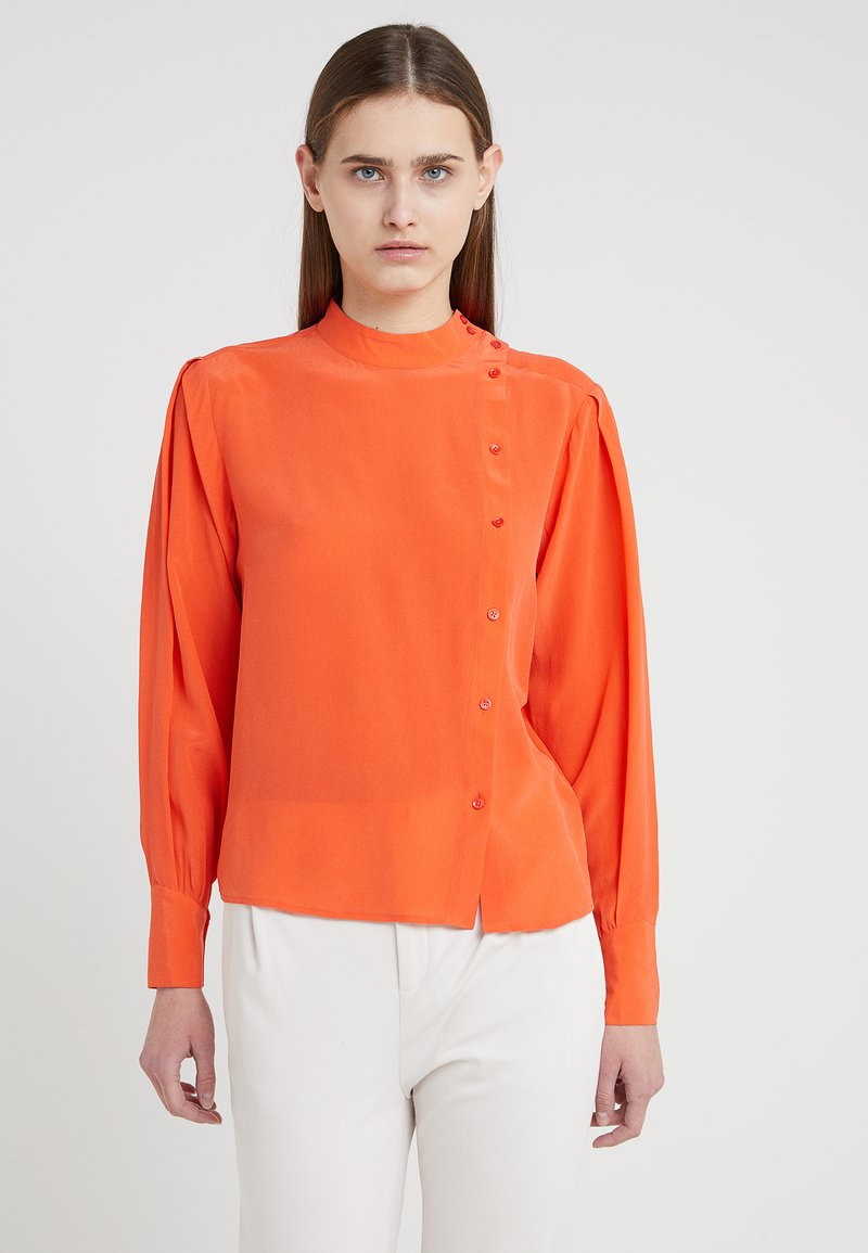 CLOSED - POLLIE - Blouse - coral