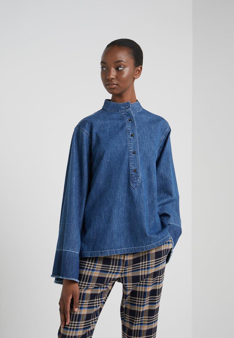 CLOSED - JERICHO - Button-down blouse - mid blue