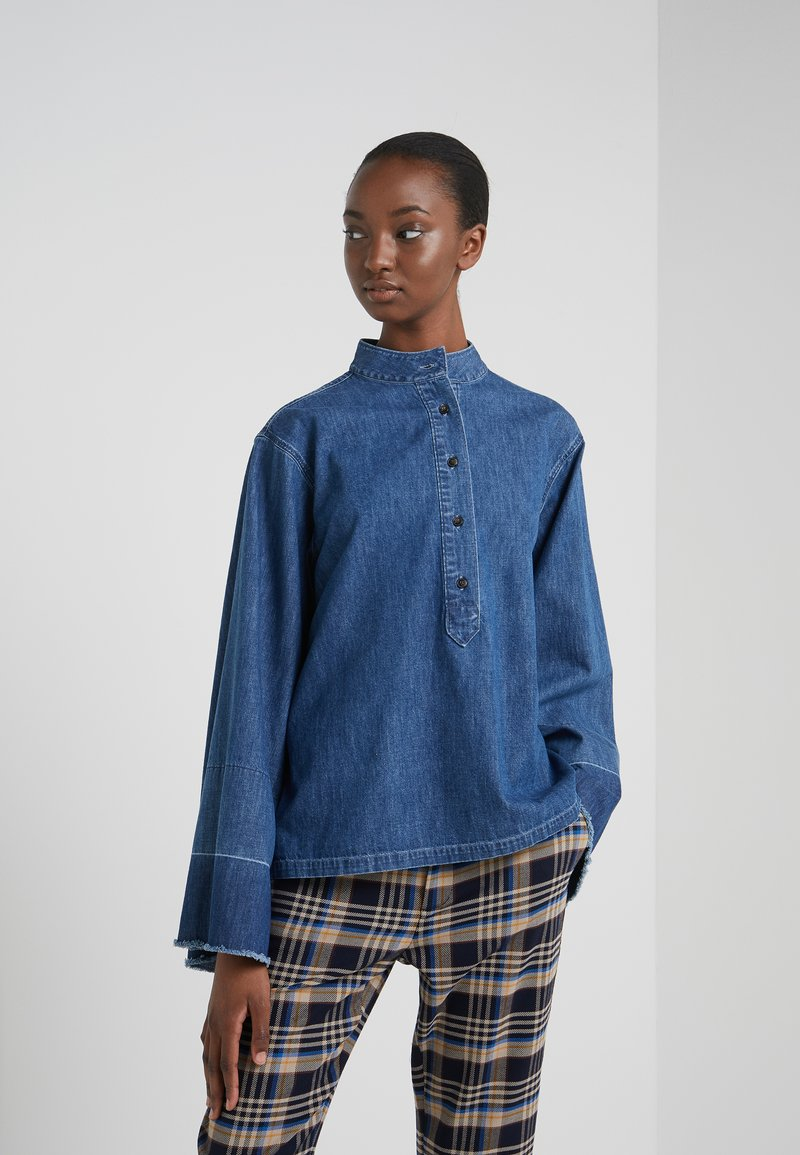 CLOSED - JERICHO - Button-down blouse - mid blue