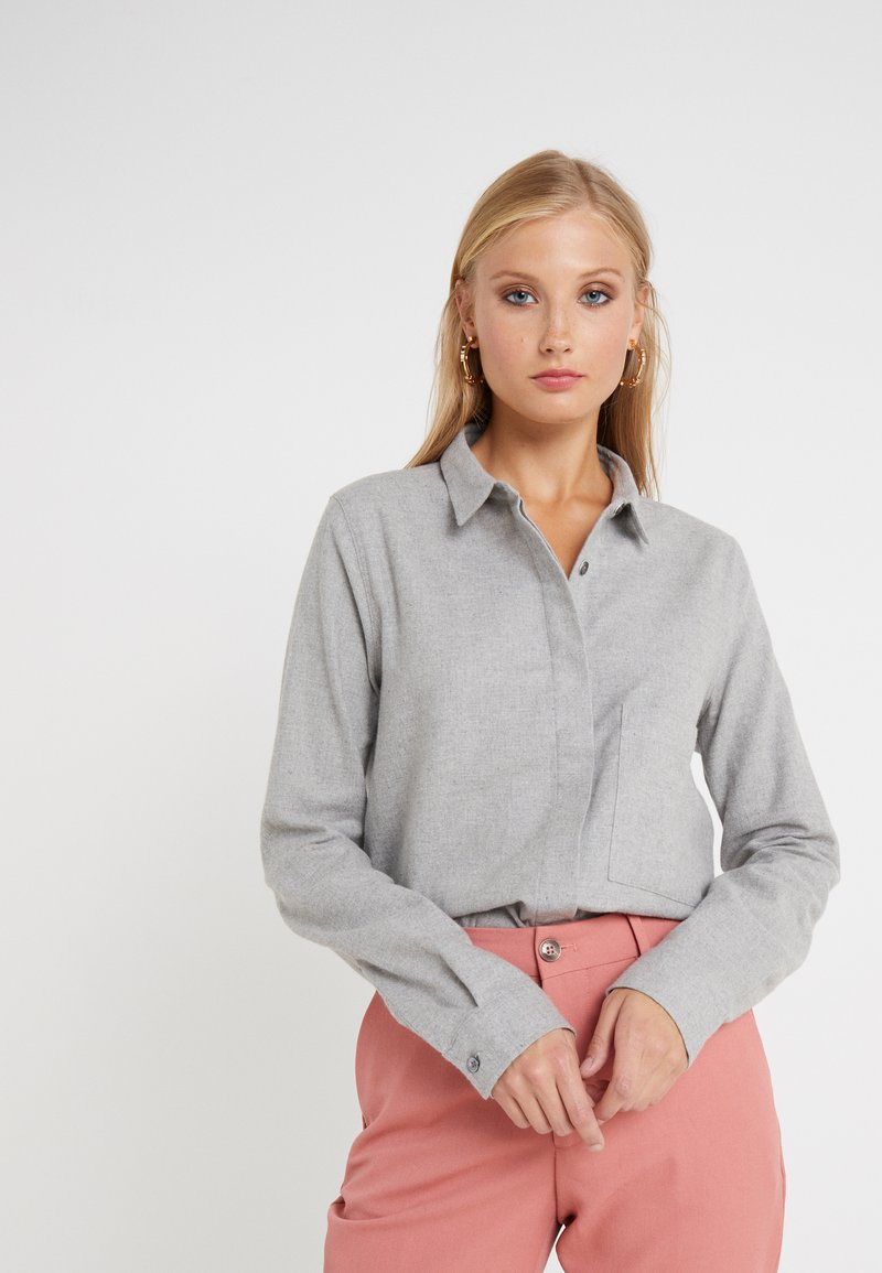 CLOSED - HAILEY - Button-down blouse - light grey melange