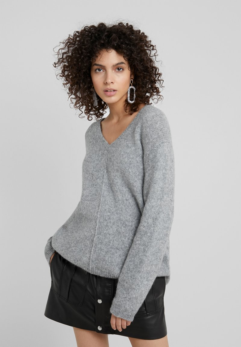 CLOSED - Sweter - grey melange
