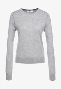 CLOSED - Pullover - grey heather melange - 4