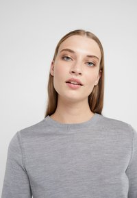 CLOSED - Pullover - grey heather melange - 3