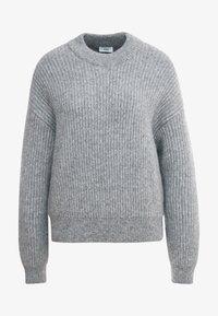 CLOSED - Jumper - grey heather melange - 3