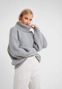 CLOSED - Strickpullover - grey heather melange - 0