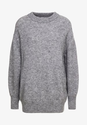 Jersey de punto - grey heather melange
