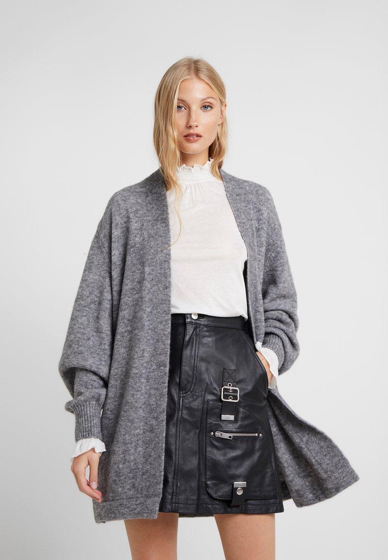 CLOSED - Strickpullover - grey heather melange