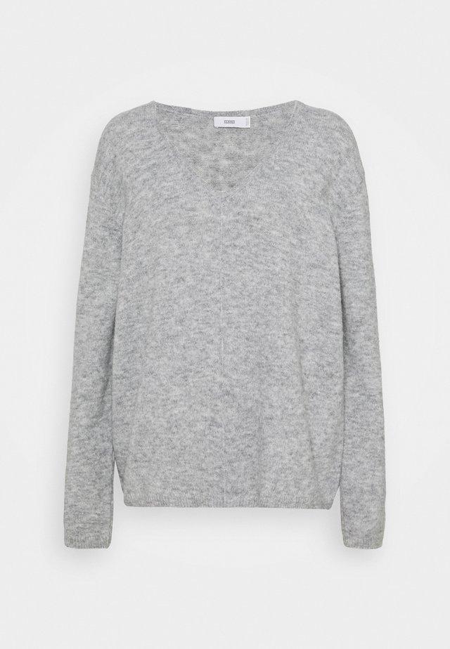 WOMEN´S - Stickad tröja - light grey melange