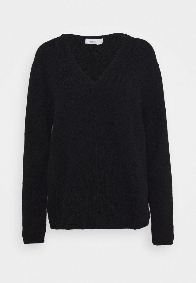 WOMEN´S - Stickad tröja - black