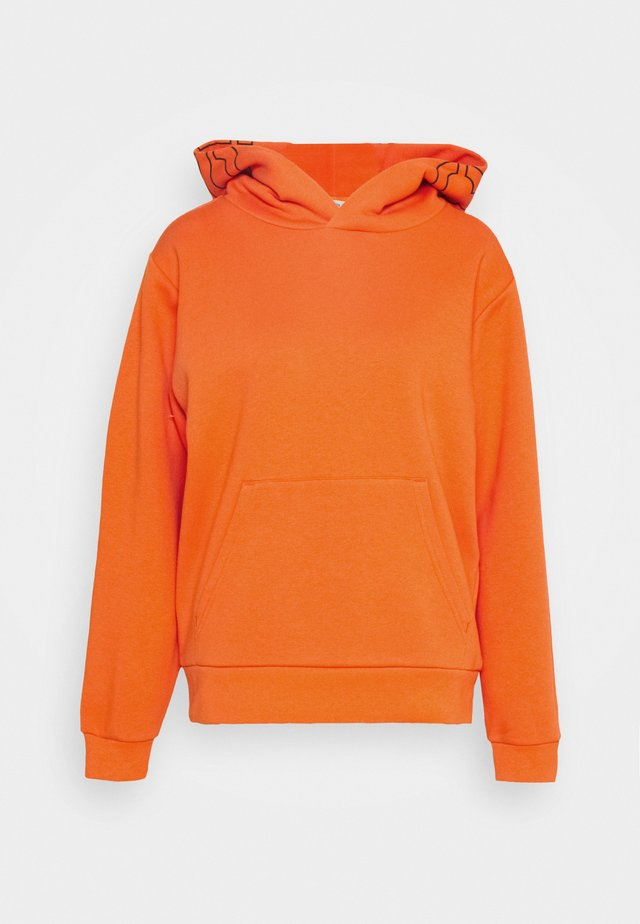 Hoodie - strong coral