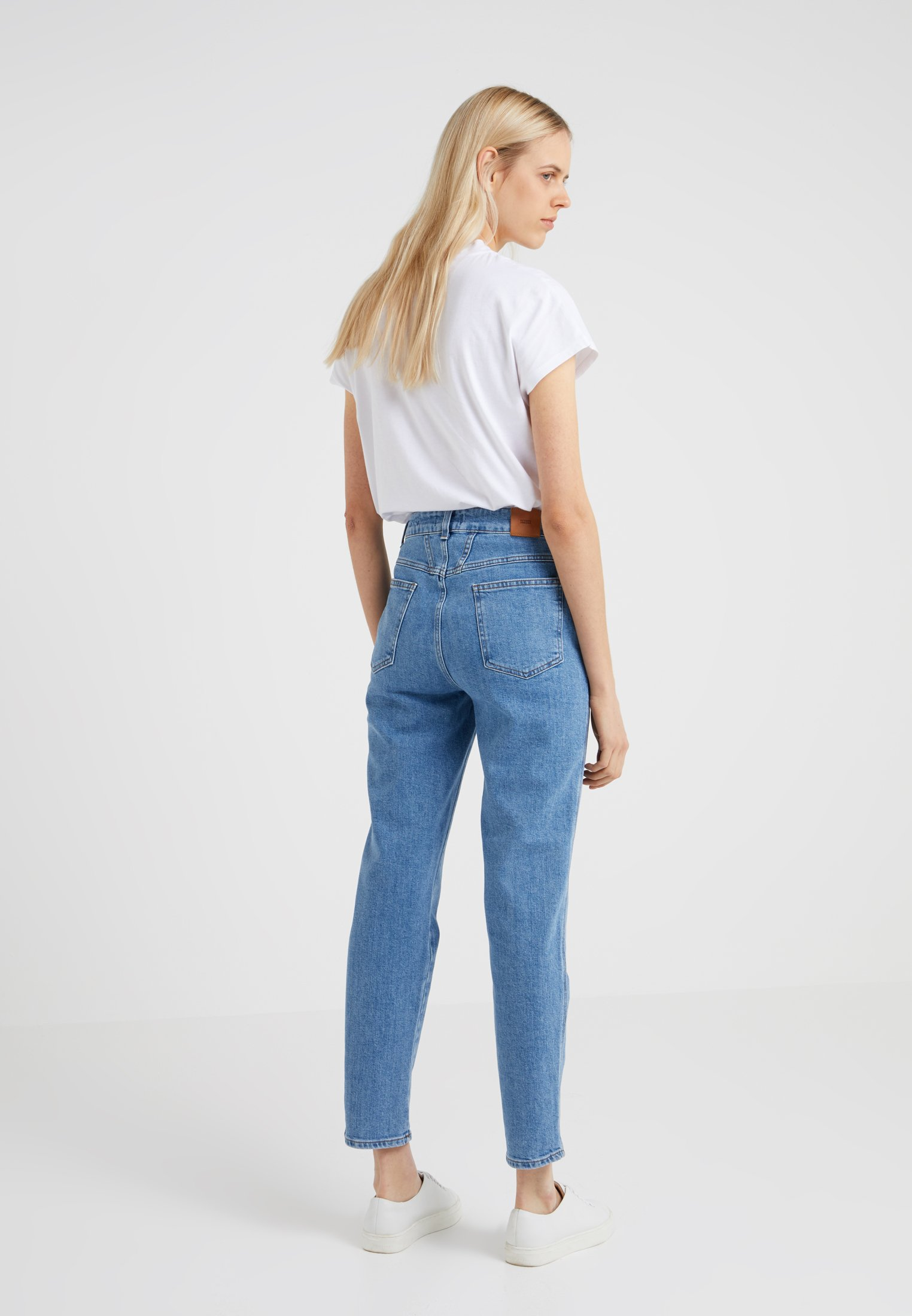 PusherJean Blue Boyfriend Mid Pedal Closed qSUMpzV