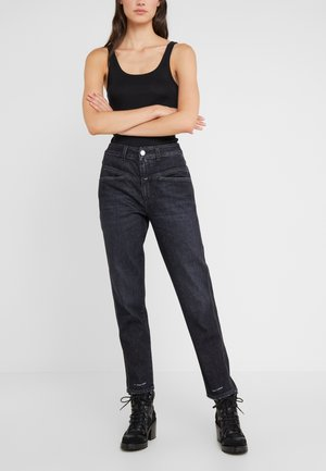 PEDAL PUSHER - Jeans Relaxed Fit - dark grey