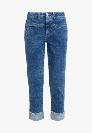 PEDAL PUSHER - Džíny Relaxed Fit - mid blue