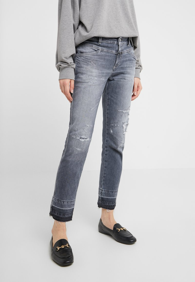 CLOSED - PEDAL QUEEN - Džíny Relaxed Fit - mid grey