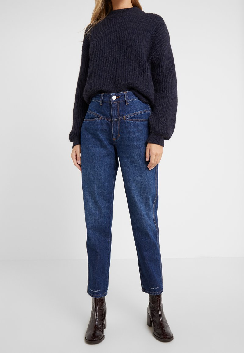 CLOSED - PEDAL PUSHER - Jeansy Relaxed Fit - dark blue