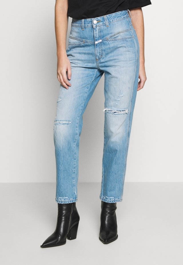 PEDAL PUSHER - Jeansy Relaxed Fit - mid blue