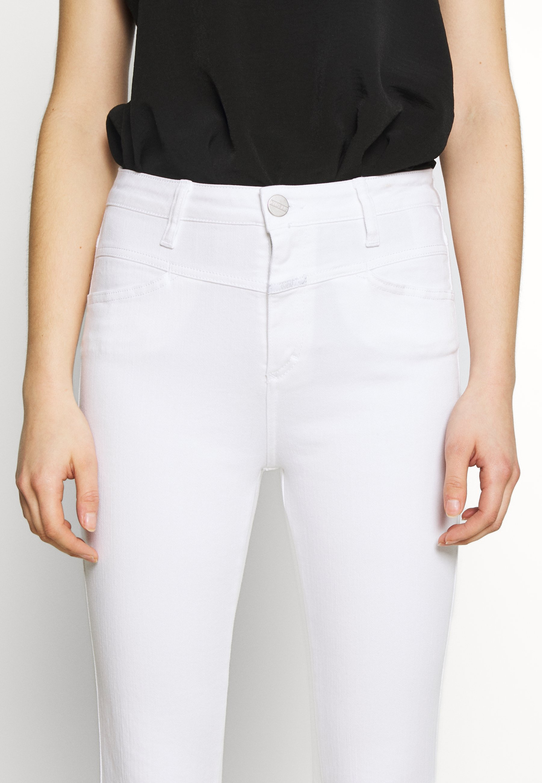 CLOSED SKINNY PUSHER - Jeansy Skinny Fit - white