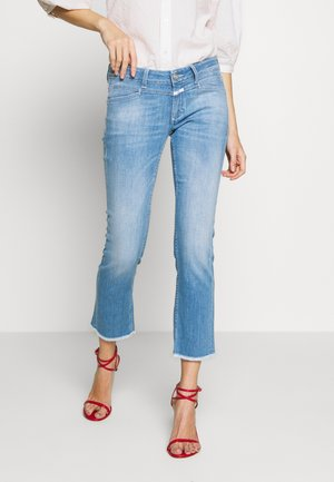 STARLET - Jean flare - mid blue