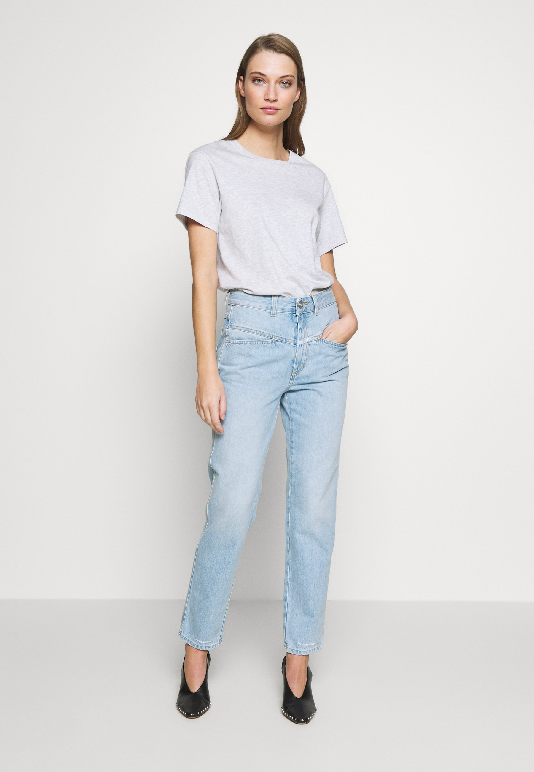 CLOSED PEDAL PUSHER - Jeansy Relaxed Fit - light blue