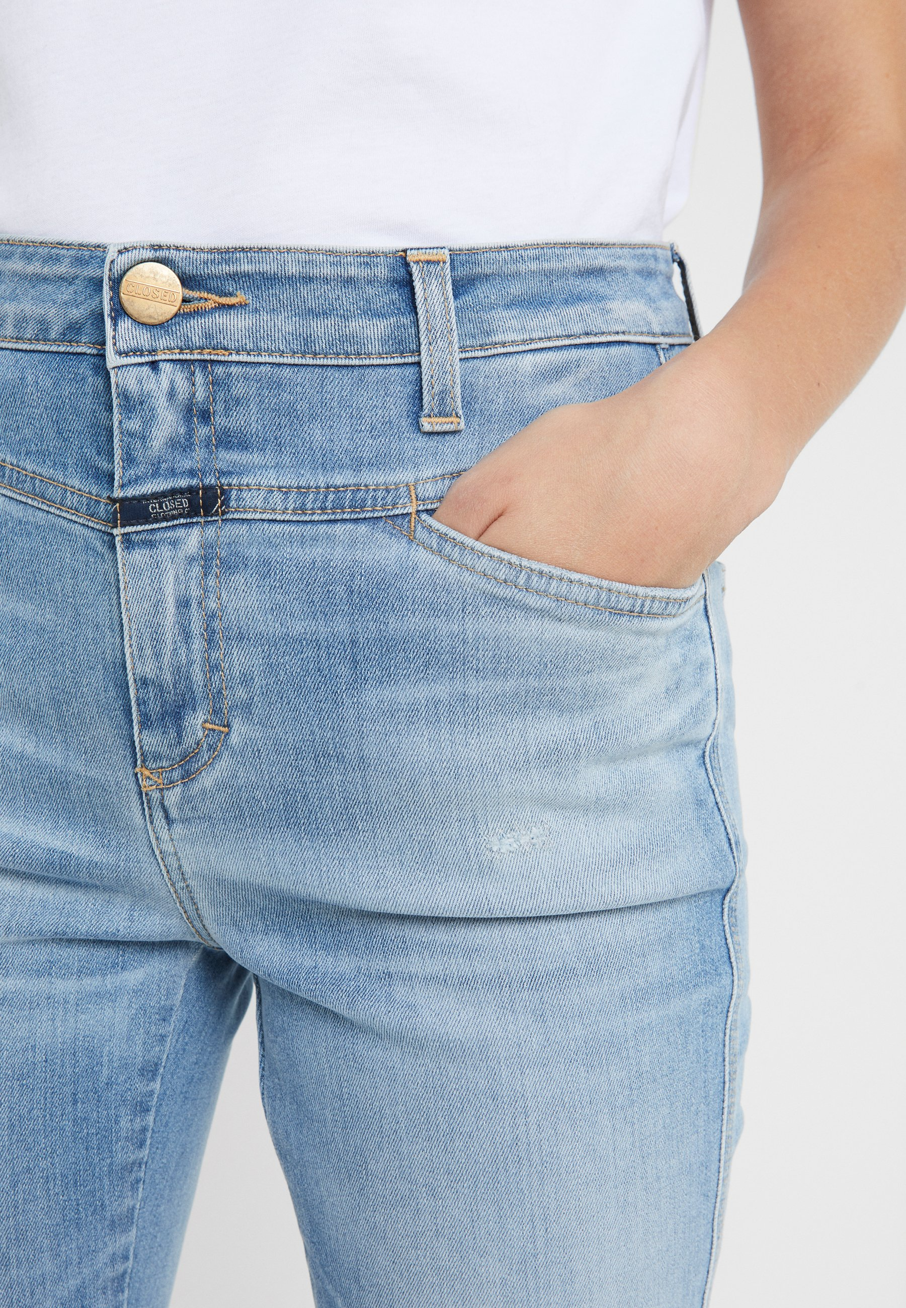 CLOSED SKINNY PUSHER - Jeansy Skinny Fit - mid blue