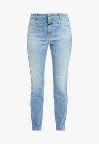 CLOSED - SKINNY PUSHER - Skinny džíny - mid blue - 5