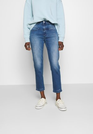 PEDAL PUSHER - Jeans Relaxed Fit - blue denim