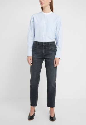 CROPPED - Jeansy Straight Leg - dark grey