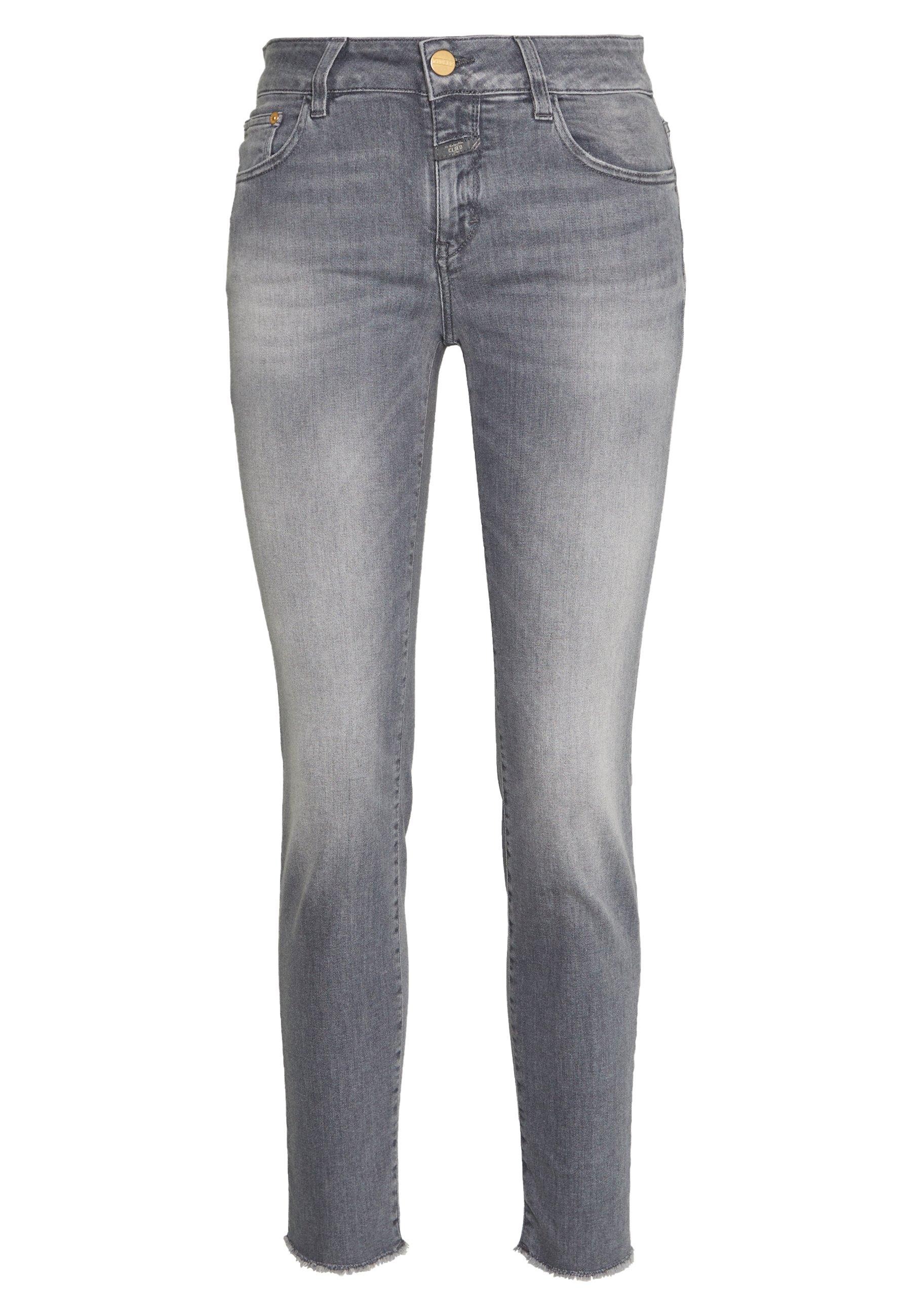 Closed Baker - Slim Fit Mid Waist Cropped Length -farkut Grey