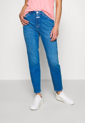 BAKER HIGH HIGH WAIST CROPPED LENGTH - Džíny Slim Fit - mid blue