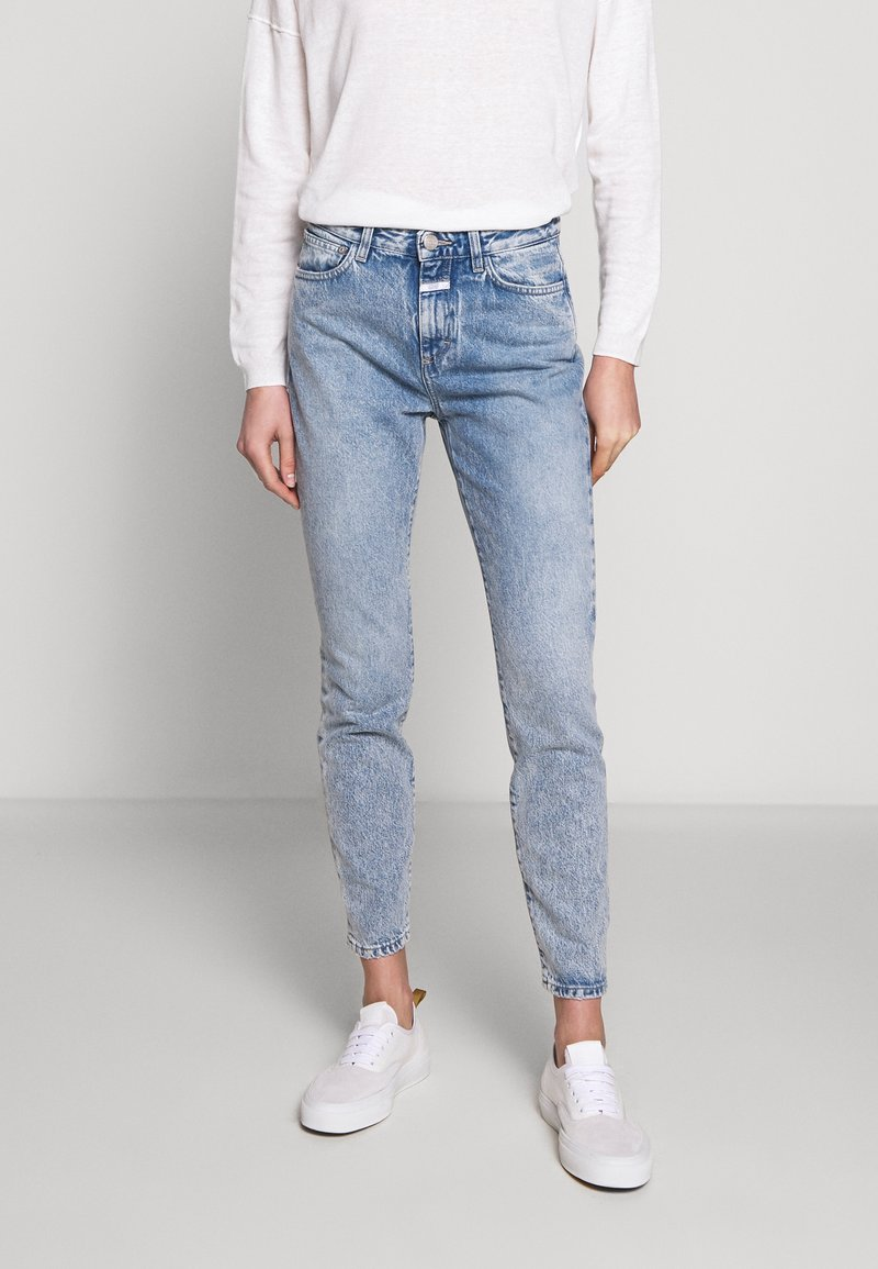 CLOSED - BAKER HIGH WAIST CROPPED LENGTH - Slim fit jeans - mid blue