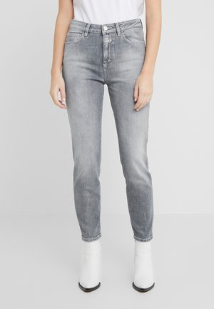 BAKER HIGH  HIGH WAIST CROPPED LENGTH - Jean slim - mid grey
