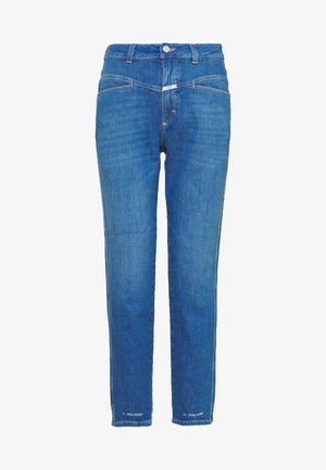 PEDAL PUSHER HIGH WAIST CROPPED LENGTH - Džíny Relaxed Fit - mid blue