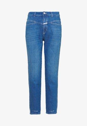 PEDAL PUSHER HIGH WAIST CROPPED LENGTH - Jean boyfriend - mid blue